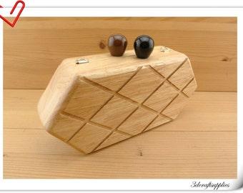 wood box purse frame 21.5cm x 10 cm (8.5 inch x 4 inch ) M77
