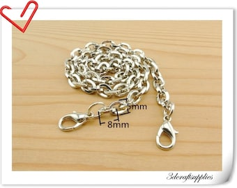 36cm silver chains for purse G30