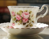Vintage Royal Albert Flower of the Month series, roses for June