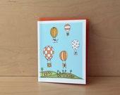 Hot Air Balloon - birthday card