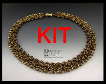 Full kit or refill Kit for Miriam Necklace- brown