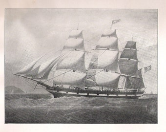 Print of the Sailing Ship Albus, built in 1850's