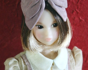 Jiajiadoll- violet bowknot head hoop fits momoko and Misaki and OB and unoa light dorandoran