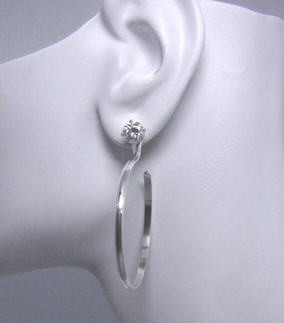 Hoop Earring Jackets Sterling