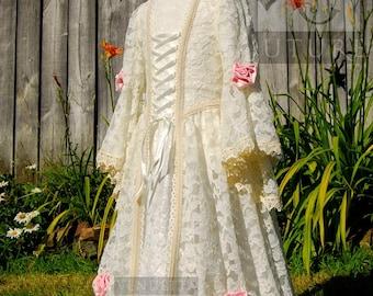 Fairytale Flower girl Rosebud Bridesmaid Child/Girl dress Made to order Lace Over-Dress