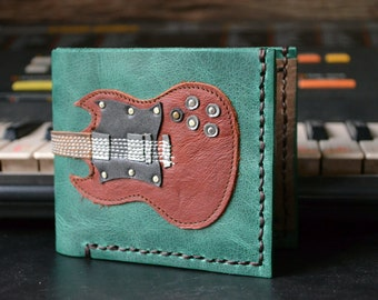 Hand Stitch Men Wallet sg-heritage & Red Brown Color and green leather #6