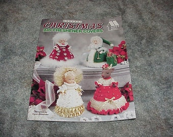 Annie's Attic--CROCHET Christmas Air Freshener Covers--8 Designs Including Santa