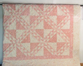Triangles on triangles pink and cream WAS 375