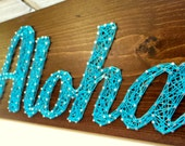 Aloha! Modern String Art Wooden Name Tablet