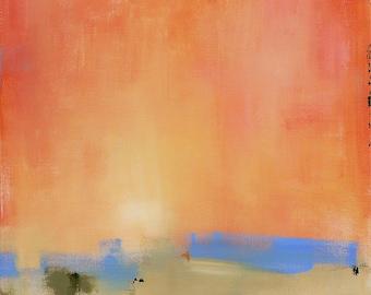 Abstract Landscape Painting Large Painting 30x30 Sunrise Sunset Simple Minimalist Art Collection Gallery Artist Fine Art West Elm