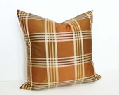 Copper Brown Plaid Pillows, Brown Pillow Covers, Iridescent, Metallic, Decorative Throw Pillows, Modern Home Decor, 20x20, SALE