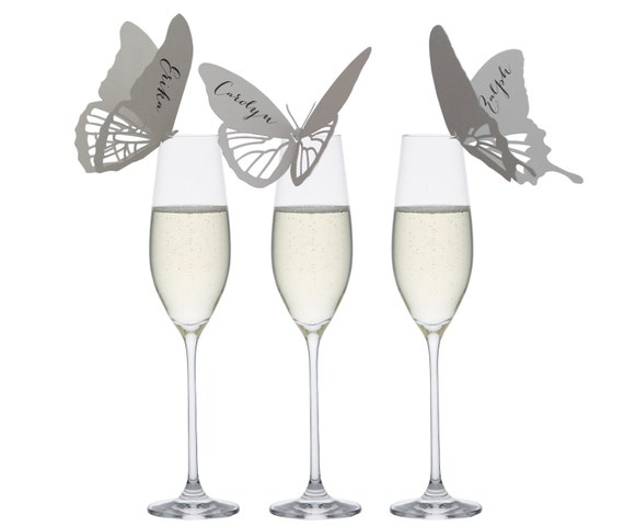 20% OFF - Butterfly Place Cards - wedding, marriage, escort card, table number, reception, seating chart, monarch, butterflies, laser cut