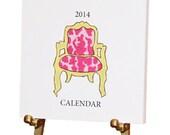 "2014 Eco-Friendly Desk Calendar on Brass Easel - ""Signature Style"""
