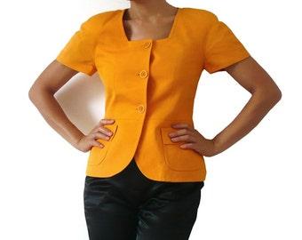 Vintage MAX MARA Short Sleeves Crop Jacket / Outerwear / Blouse