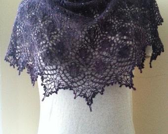Sugar Plum shawl