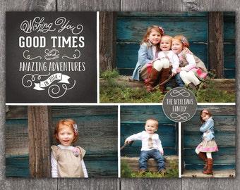 Amazing Adventures - DIGITAL Custom New Year's Holiday Photo Card