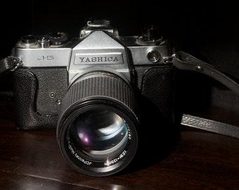 Vintage Yashica J-5 camera with JC Penny 135mm lens