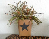 Country Primitive Wall Pocket Decor