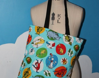 blue dr seuss tote bag