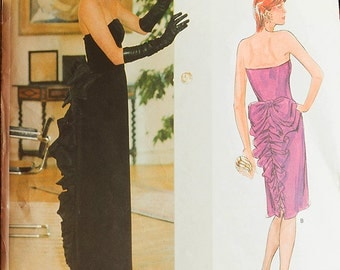 Vogue Patterns Designer Original Bellville Sassoon Evening Dress Size 14 Bust 36