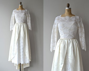 Ivory Tower dress | vintage 1950s lace wedding dress • lace 50s wedding gown