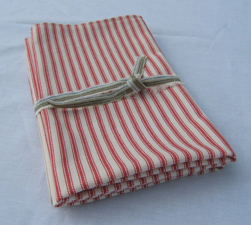 Striped Kitchen Towels Ticking Towels Set Of Two French