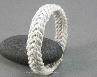 thin string cotton herringbone weave turks head knot sailor rope bracelet 3263