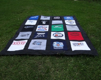 Custom  Full Size Tshirt Memory  Quilt made with your own Tshirts