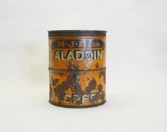 Vintage Aladdin Coffee Can-Rustic-Primitive-Farmhouse Decor