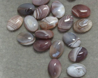 Full Strand of 13mm by 18mm Oval Botswana  Agate Gemstones (140)