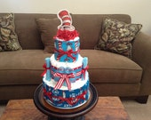 Dr Seuss Diaper Cakes Baby Shower Centerpieces other sizes and Characters available