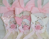 Shabby Chic Butterfly Rose Gift Tags