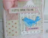 Shabby Chic Birdcage Birthday Handmade Card