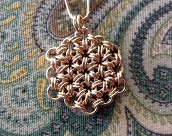 Gold Flower of Life Chainmaille 14kt GF