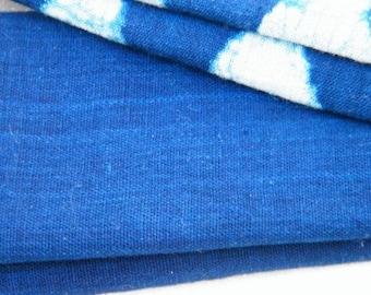 Light Handloom Cotton- natural indigo dye - LH indigo