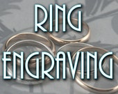 Inside Ring Engraving--Professional Personalized Ring Engraving--Wedding Bands Add a Date or Name--Custom Engraving--Engraved Band