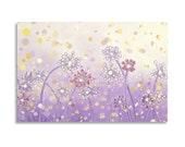 Dandelion Painting, Flower Painting, Dandelion Art Original Acrylic Painting, Modern Wall Art 24x36