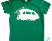 Kids Tee Vintage CAMPER Shirt - American Apparel Sizes 2 4 6 8 10  12 - FREE Shipping