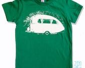 Kids Tee Vintage CAMPER Shirt - American Apparel Sizes 2 4 6 8 10  12 - FREE Shipping