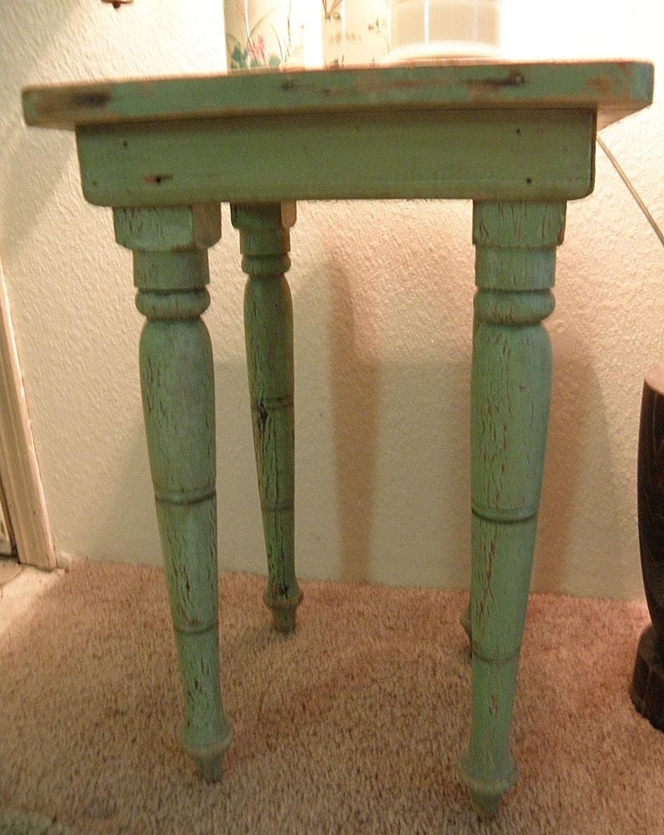 Menthe Verte Chippy Cottage Style Petite Table De Jardin Ou