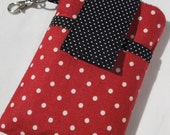 iphone cover,Samsung galaxy s4,s5,HTC,Lg g2,iPhone 5,5s,5c,iPod classic/touch,Moto x,MotoG Droid sleeve case,cellphone case - Red White Dot