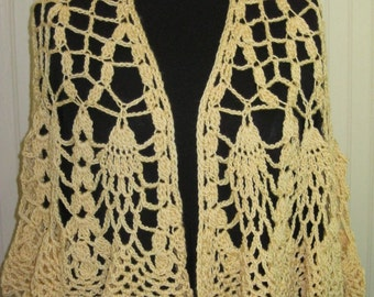 Sunshine Yellow Shawl Crochet