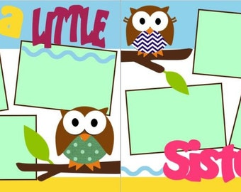 I'm A LIttle Sister 2-page 12x12 do-it-yourself scrapbook kit