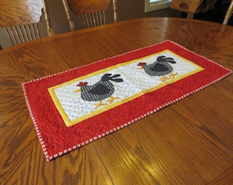 Machine Appliquéd Table Runner - Getting to the Other Side!