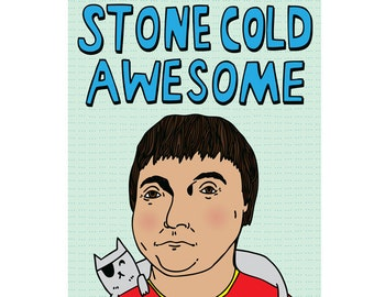 Congratulations Card - Stone Cold Awesome