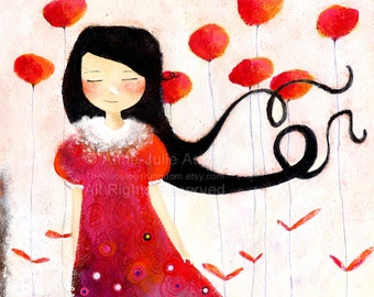 Girl at Poppies - Deluxe Edition Print