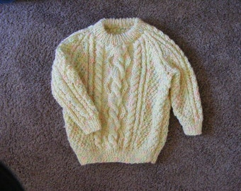 Knitted Cable Baby Sweater
