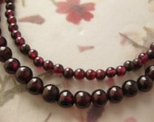 Double strand garnet necklace