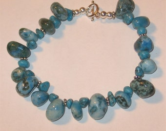 Turquoise and Silver Bracelet - 1142