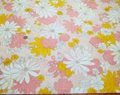 Vintage Pink and Yellow Flower Power Pillowcase Free Shipping!